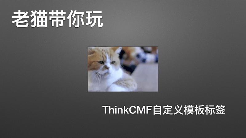 ThinkCMF 自定义模板标签