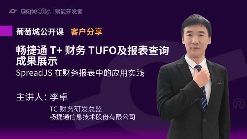 用友畅捷通T+财务TUFO及 SpreadJS 应用成果展示