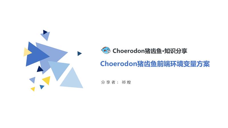 Choerodon猪齿鱼前端环境变量方案