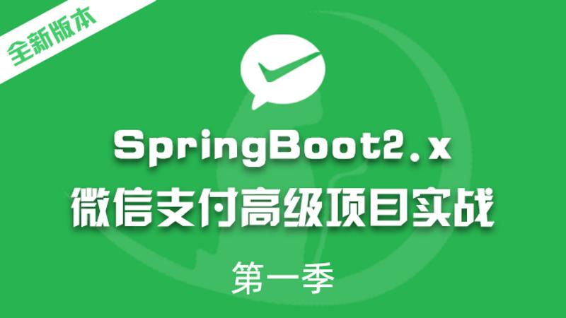 SpringBoot2.x高级项目实战微信支付实战视频教程微服务