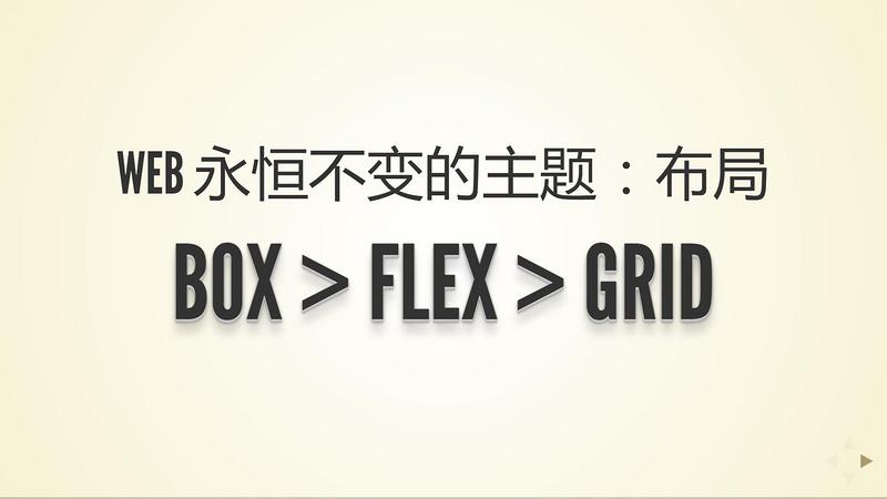 Web 永恒不变的主题:布局——Box,Flex,Grid