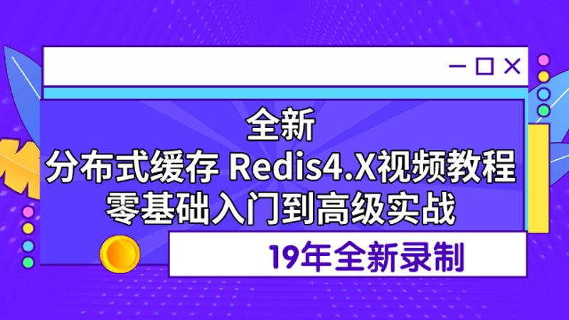 19年正版redis视频教程redis4.x零基础整合springboot